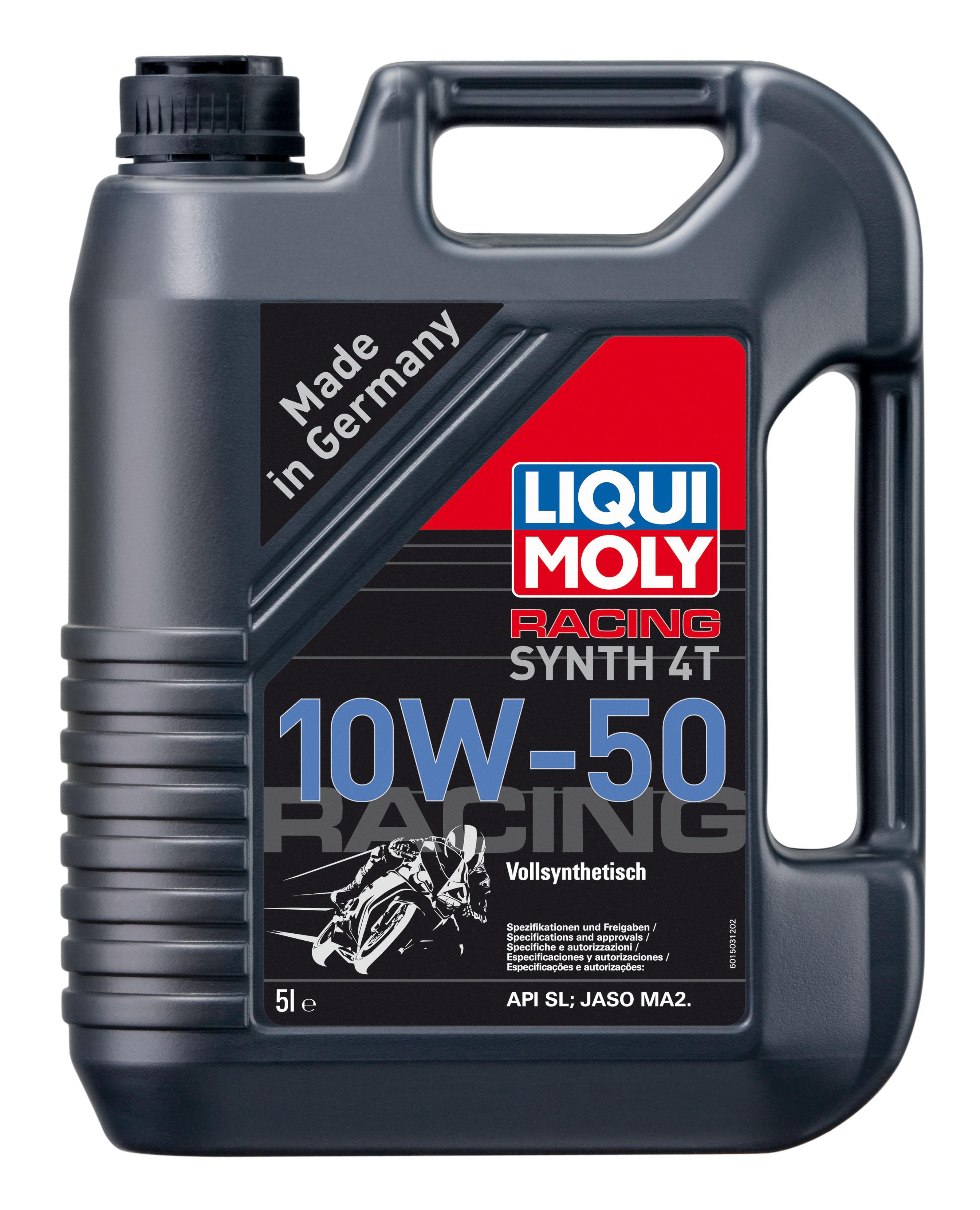LM שמן לאופנוע 10W50 סנטטי 5  4T ליטר ליקווי מולי