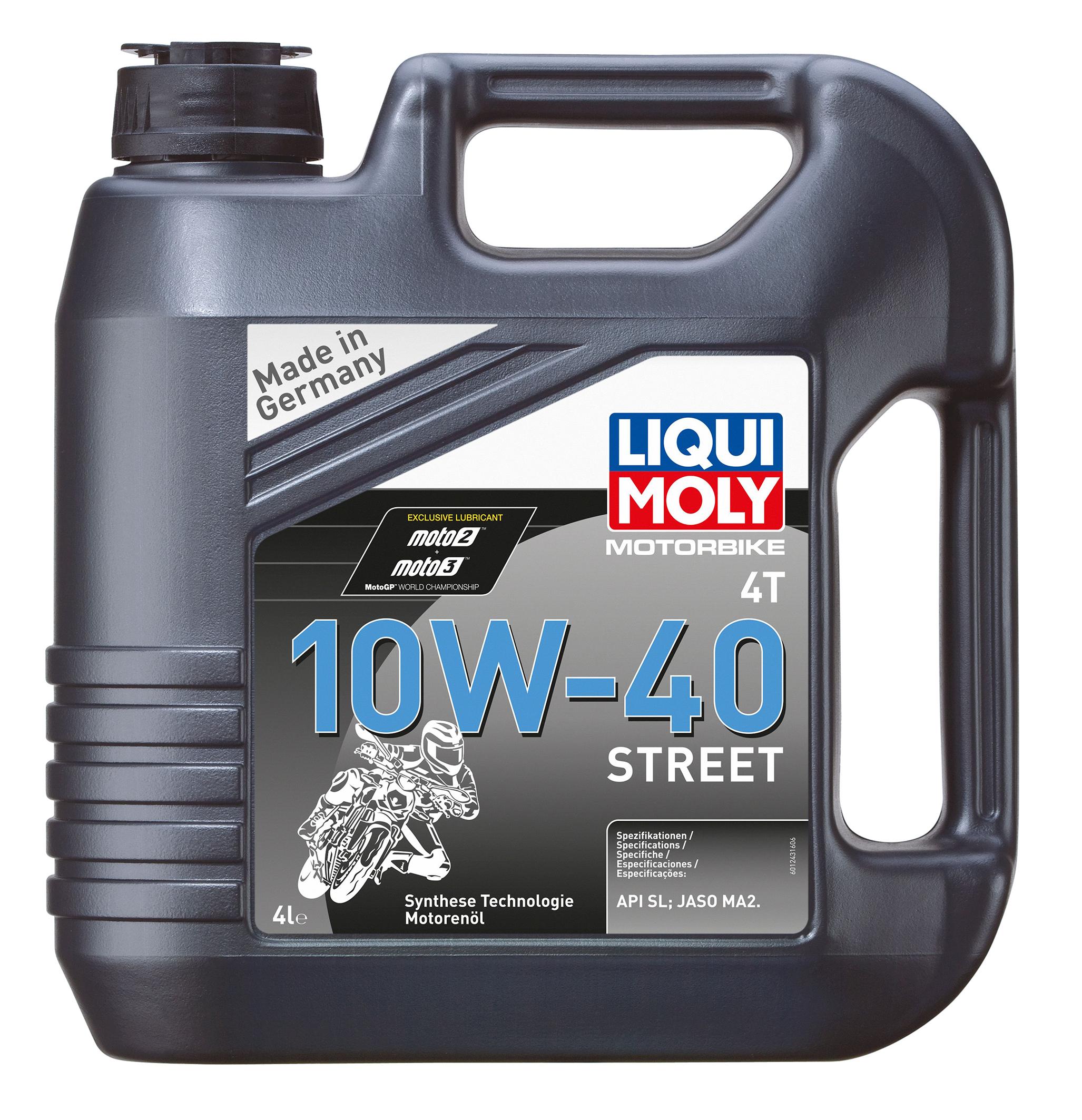 שמן לאופנוע 10W40  1 ליטר T4